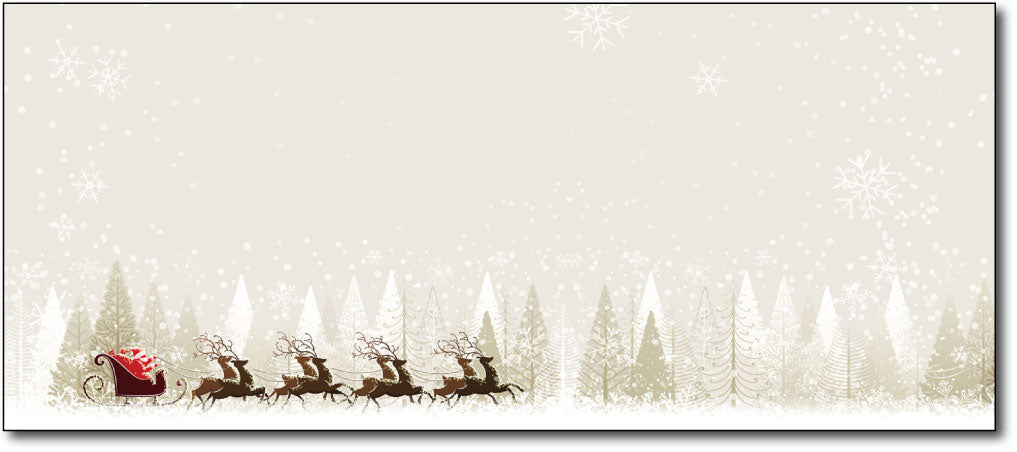 Christmas Envelopes - Santa & Reindeer - (#10 Envelopes)