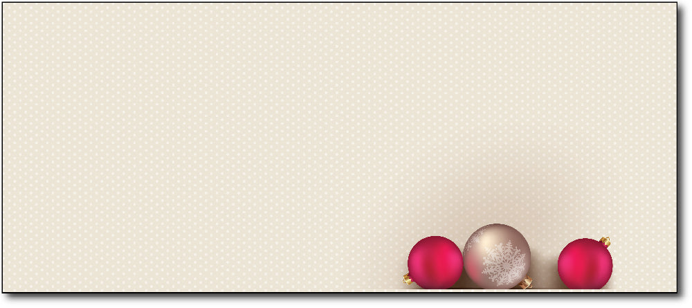 Christmas Envelopes - Bells and Bulbs - (#10 Envelopes)