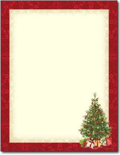 60 lb Lacy Tree Letterhead, measure(8.5 X 11), compatible with copier, inkjet and laser