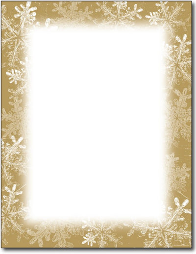 "50 lb Frosted Holiday Wishes Stationery, measure(8 1/2"" x 11""), compatible with copier, inkjet and laser"