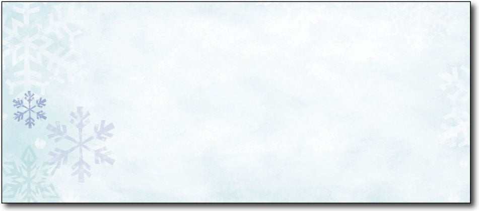 "50lb Blue Flakes Envelopes, measure (9 1/2"" x 4 1/8"") , compatible with inkjet and laser"