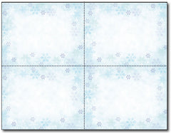 "110 lb Blue Flakes 4-up Postcards, measure(8 1/2"" x 11""), compatible with copier, inkjet and laser"