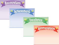 Srat Banner Assorted Certificate paper pack featuring Acheivement, Excellence, Recognition, & Appreciation Certificates
