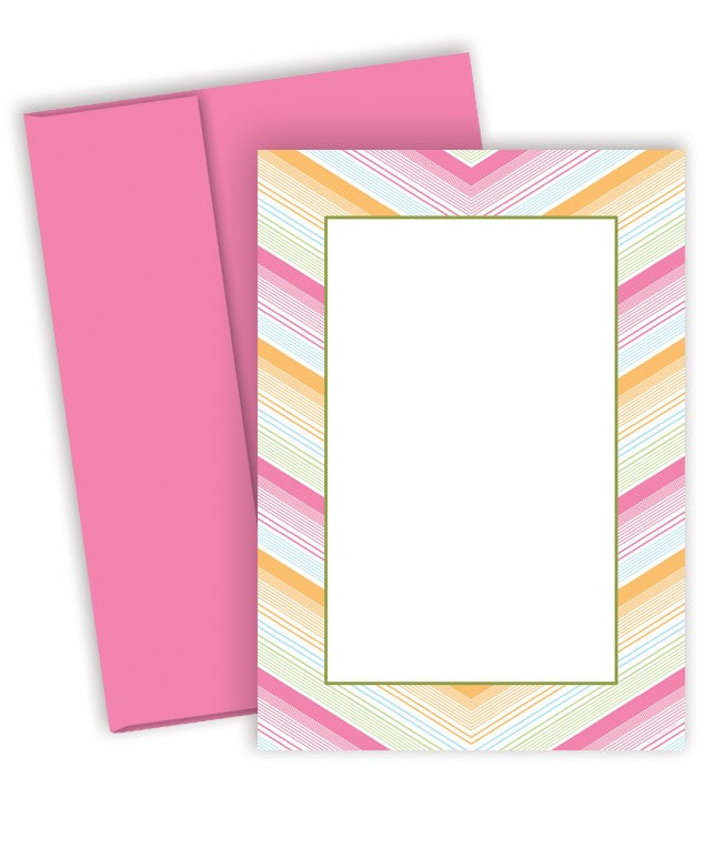 Multicolor Soft Chevron Invitatio for baby showers, birthday parties, and more