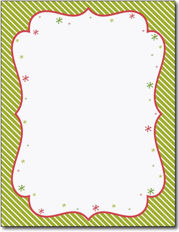 "50 lb Peppermint Twist Letterhead,  measure( 8 1/2"" x 11""), compatible with inkjet and laser"