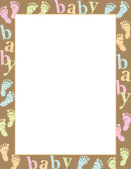 Baby Dots and Feet Stationery - 80 Sheets