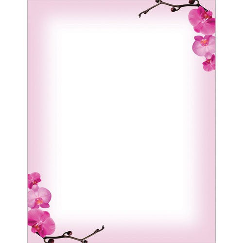 Pink Orchids Letterhead - 80 Sheets
