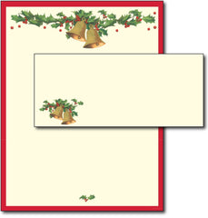 Antique Bells Letterhead & Envelopes - 40 Sets, compatible with inkjet and laser