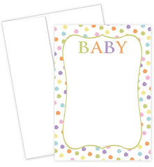 Baby Dots Flat Card Set featuring colorful dots