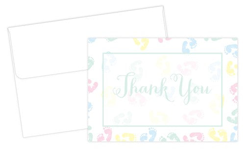 Baby Feet Thank You Note Cards