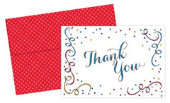 Party Elements Thank You Cards featuring a colorful design on the cover