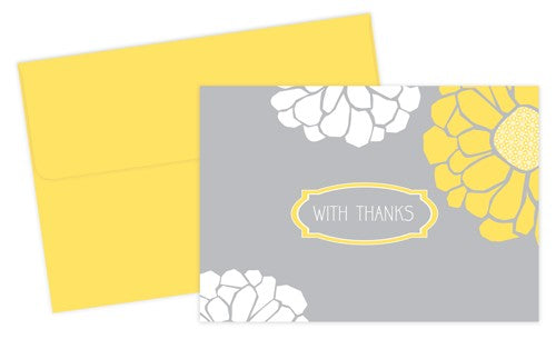Sunny Flowers Thank You Cards featuring flowers that are sure to remind you of summertime