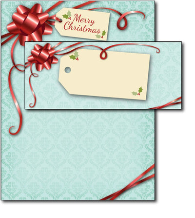 Gift Package Letterhead & Envelopes - 40 Sets, compatible with inkjet and laser