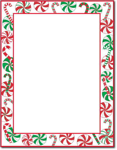 "50lb Peppermints Party Holiday Paper, measure (8 1/2"" x 11"") , compatible  with copier, inkjet and laser, matte both sides"