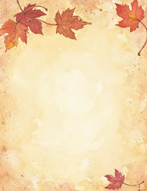 Fall Leaves Stationary - 80 Sheets