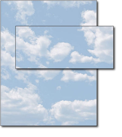 Clouds Letterhead & Envelopes - 40 Sets, Inkjet and Laser Printer Compatible