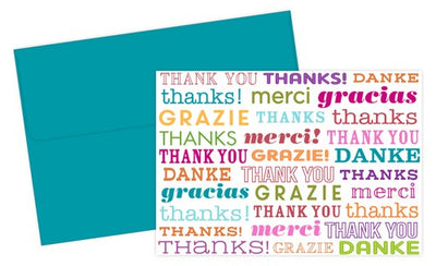 Type Set Thank You Note Cards & Envelopes Set