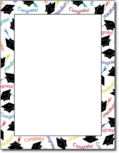 "24 lb Graduation Letterhead, measure(8 1/2"" x 11""), compatible with inkjet and laser, matte both sides"