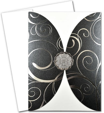 Scalloped Rounded Pocket Invitations with Envelopes
