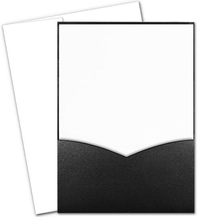 Modest Black Invitations with Envelopes
