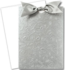 Heirloom Vine Silver Invitations with Envelopes