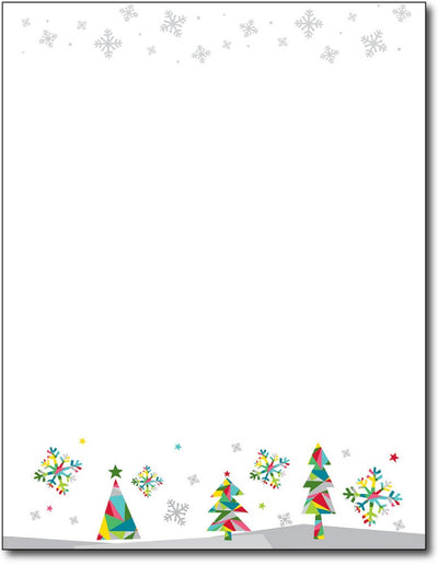 "50lb Prismatic Holiday Holiday Paper, measure (8 1/2"" x 11"") , compatible  with copier, inkjet and laser, matte both sides"