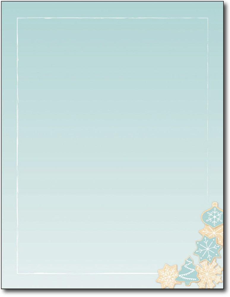 "50lb Holiday Cookie Christmas Paper, measure (8 1/2"" x 11"") , compatible  with copier, inkjet and laser, matte both sides"
