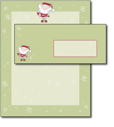 Merry Xmas Santa Letterhead & Envelopes - 40 Sets, compatible with inkjet and laser