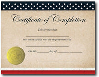 Patriotic Completion Certificate