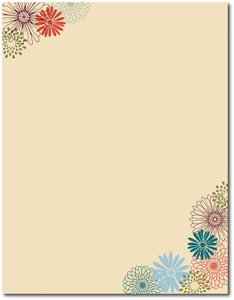 "50lb Fall Mums Letterhead, measure(8 1/2"" x 11""), compatible with inkjet and laser"