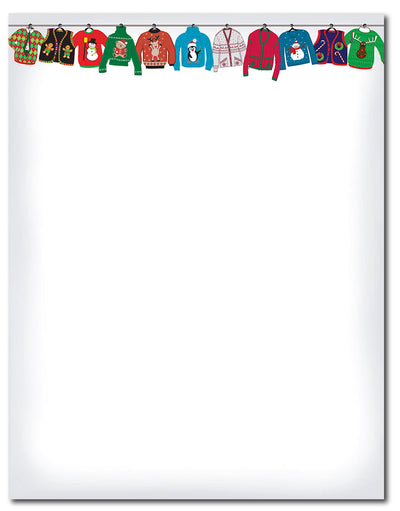 "50lb Holiday Sweater Letterhead, measure(8 1/2"" x 11""), compatible with inkjet and laser"
