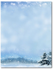"50lb Beautiful Winter Letterhead, measure(8 1/2"" x 11""), compatible with inkjet and laser"