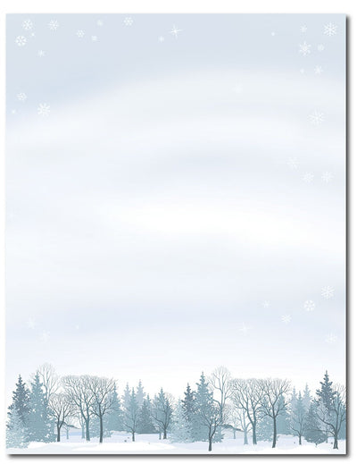 "50lb Winter Wonderland Letterhead, measure(8 1/2"" x 11""), compatible with inkjet and laser"