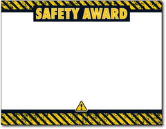 "Safety Award Certificates 8 1/2"" x 11"" 60lb text inkjet & laser printer compatible"