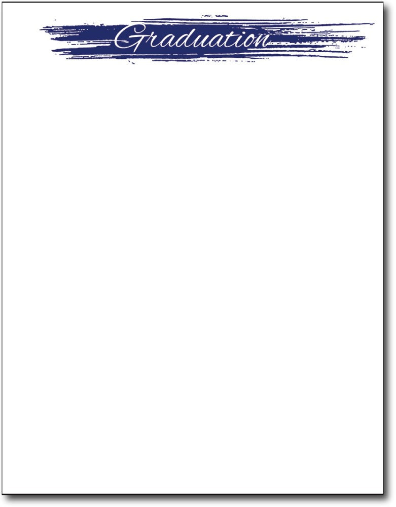 "Graduation statement graduation Letterhead, measure(8 1/2"" x 11""), compatible with inkjet and laser, 50lb text paper"