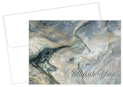 marble thank you note cards and envelopes