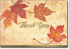 fall leaves thank you note greeting cards envelopes autumn thanksgiving halloween
