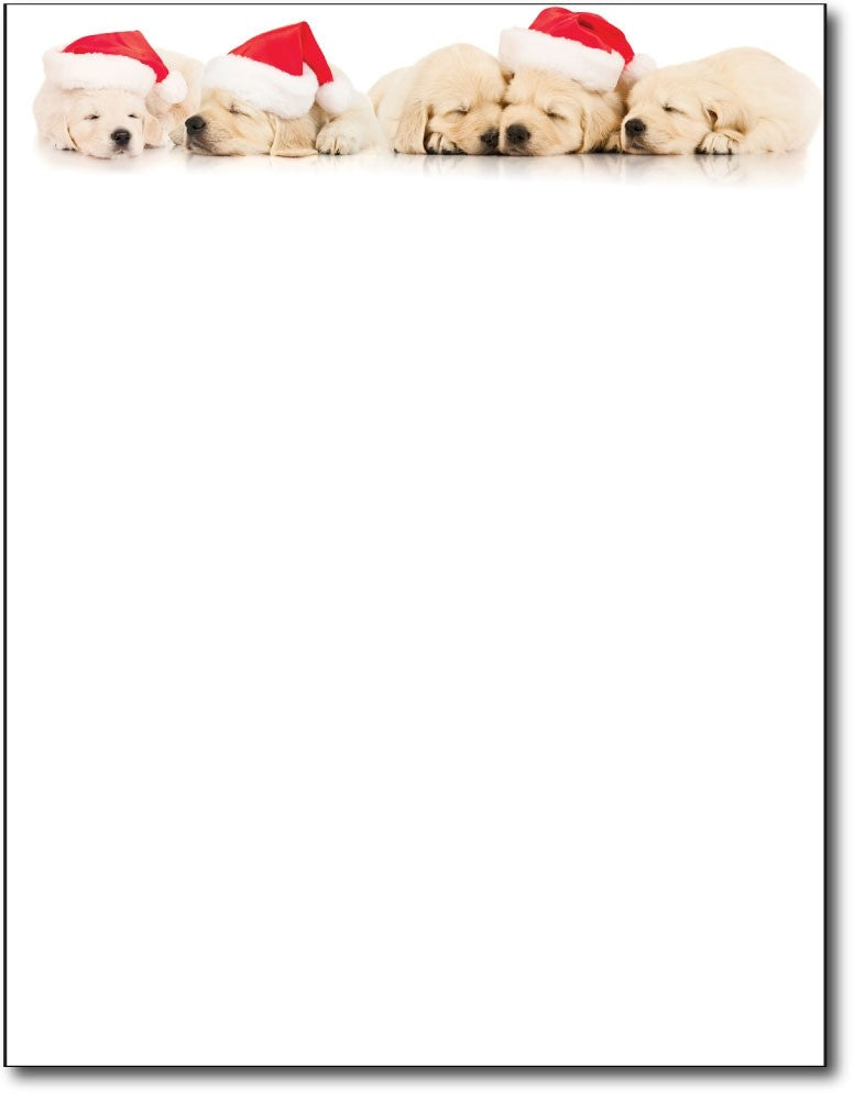 "pets animals dogs santa christmas holiday paper Letterhead, measure(8 1/2"" x 11""), compatible with inkjet and laser"