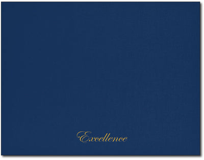 Certificate Holders - Excellence Text (Navy & Gold Foil)