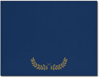 Certificate Holders - Laurel Crown Symbol (Navy & Gold Foil)