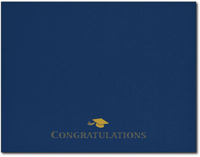 Certificate Holders - Graduation Cap (Navy & Gold Foil)