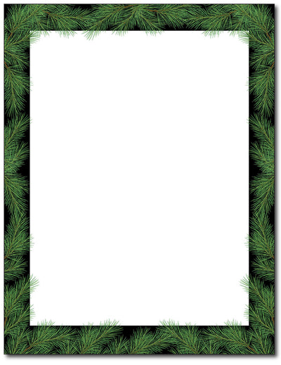 Christmas Pine Stationery - 80 Sheets