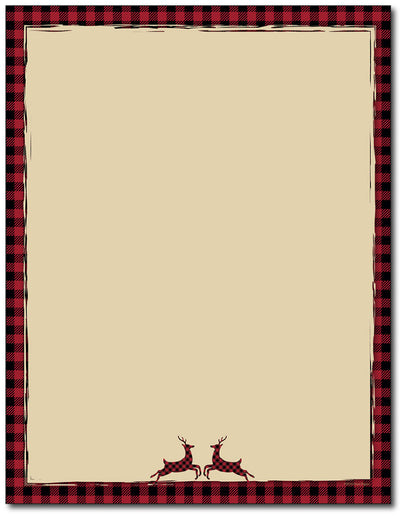 Buffalo Red Reindeer Stationery
