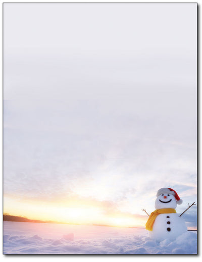 Snowman Sunset Stationery