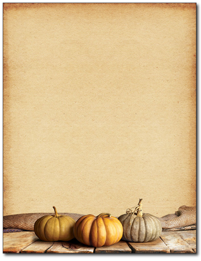 Fall Pumpkins Stationery