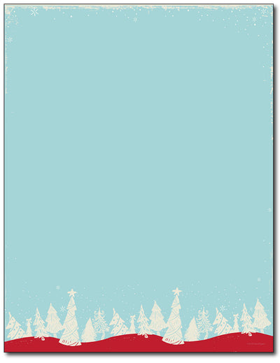 Christmas Forest Stationery