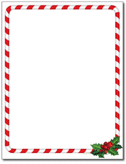 Candy Cane Holly Stationery