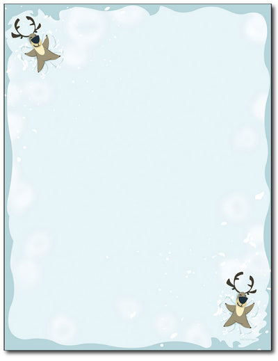 Reindeer Snow Angel Stationery