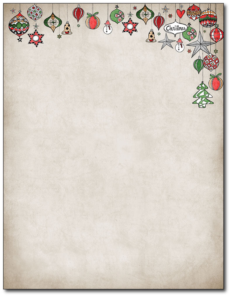 Vintage Ornaments Stationery
