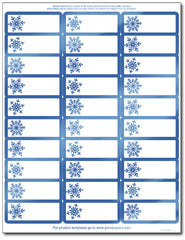 Shiny Blue Foil Snowflake Address Labels